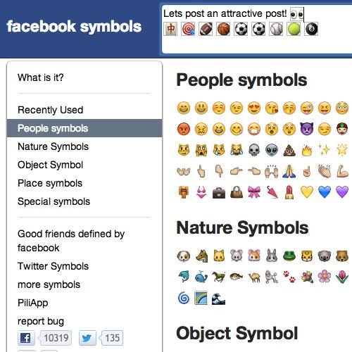 Symboler Facebook